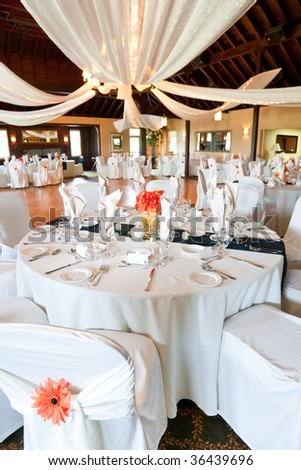 Wide Angle View Wedding Reception Venue Stock Photo Edit Now