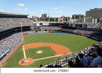 wide angle view of Yankee Stadium