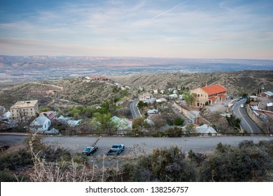 Wide angle views of Jerome, Arizona