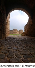 a wide arch in the huge stone fortress of Akkerman