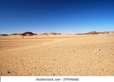 Wide empty desert