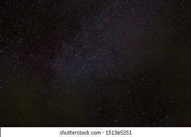 A wide field astrophotographic image showing detail from the Milky Way.