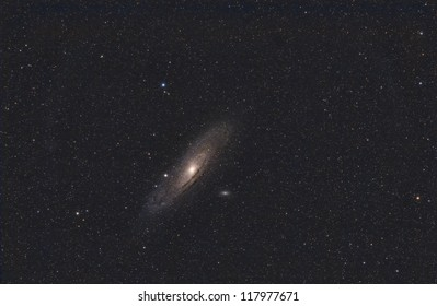 A Wide Field View of the Andromeda Galaxy