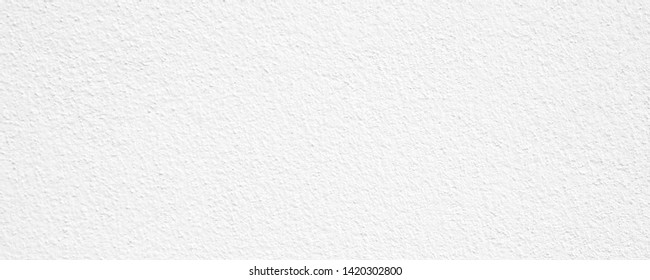 Wide image, White cement or concrete wall texture for background, Empty space.
