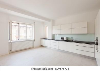 Wide kitchen in a modern apartament