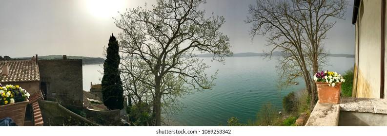 Wide lake fro balcony