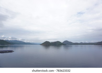 wide lake and sky