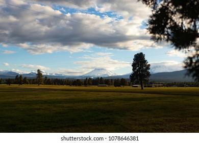 Wide Landscape of Mt Bachelor