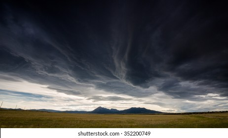 Wide open range in Alamosa County, Colorado - Shutterstock ID 352200749