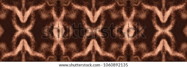 Wide ornament made of folds of the reddish-brown velveteen. The symmetrical elongated design made of a velvet tissue