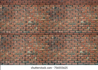 wide red brick wall texture grunge background