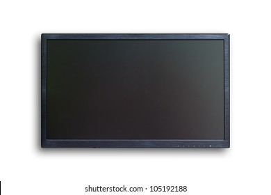 wide screen TV isolated