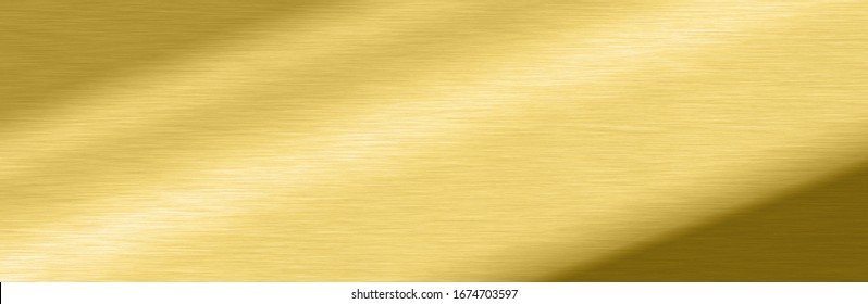 Wide Shiny smooth line metal gold color background