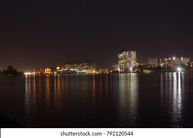 Wide shot of Lagos City SKyline