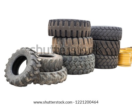 Wide Tires For Muscle Cars, Wide Shot Of Pile Of Old Tractor Tires Isolated On White Background Can Be Use, Wide Tires For Muscle Cars