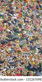 a wide variety of bird feeds