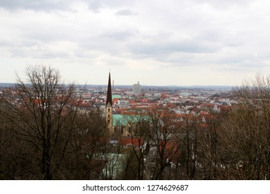 wide view of bielefeld germany photographed during a sightseeing tour at a sunny day