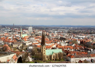 wide view on the built structure in bielefeld germany photographed during a sightseeing tour at a sunny day