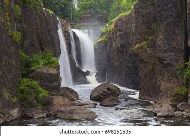 Wide View of Paterson Great Falls in Paterson New Jersey