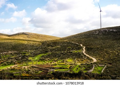 Wide view of an portuguese hill