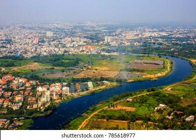 Wide view of Sai Gon city