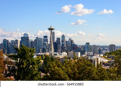 A Wide View of Seattle Skyline