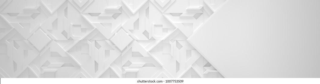 Wide White Background With Copy Space (Site head) (3d illustration)