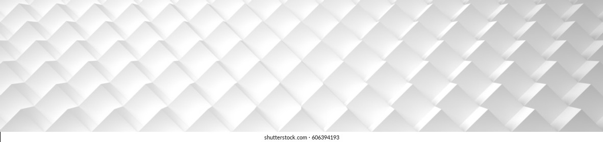 Wide White Cubic Background (Site head) (3d illustration)