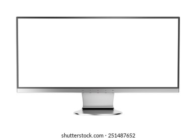 Widescreen display isolated on white background