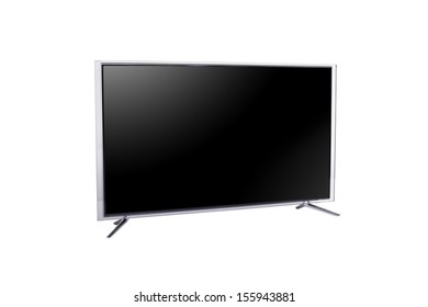 widescreen LED or LCD internet tv monitor isolated on white