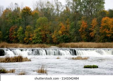 the widest waterfall in Europe Ventas Rumba, Latvia, Kuldiga,