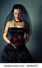 widow with a veil