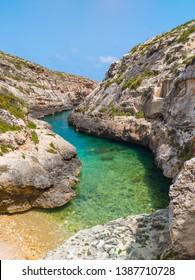 Wied il-Ghasri. Gozo island. Malta island