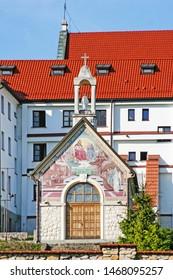 WIELICZKA - APRIL 22, 2015: Franciscan Monastery in Wieliczka, Poland.