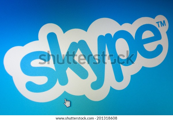 WIELICZKA, POLAND - 04 JUNE 2014. Skype logo on computer screen. Skype is a free voip service.