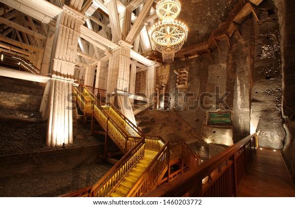 Wieliczka/Poland-07/15/2019 photo from Wieliczka Salt Mine in Poland