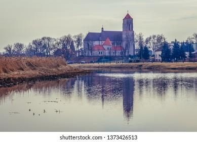 Wieliszew, Poland - March 11, 2018: Church of Transfiguration in Wieliszew town near Warsaw city
