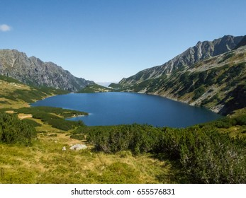 Wielki Staw (Big Pond), in the valley of the five ponds of the Tatra Mountains national Park, in Zakopane, Poland.
