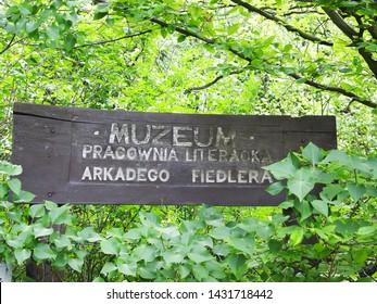 Wielkopolska region, Poland - June, 2019: Puszczykowo, Arkady Fiedler Museum