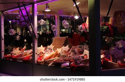 Wien, Austria - 27 January 2017: A market stall, Christmas market in Wien