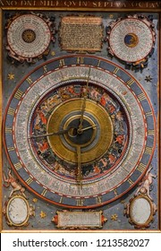 WIEN, AUSTRIA - NOVEMBER 08, 2017:  Astronomical Clock with zodiacal sign