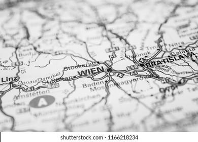 Wien on the map