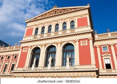 "The Wiener Musikverein (English: ""Viennese Music Association"") is a famous Vienna concert hall. It was built in 1870."