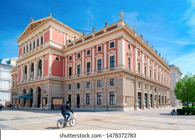 Wiener Musikverein, or Viennese Music Association on Karlsplatz square in Innere Stadt in Old city center in Vienna in Austria. Opera and Philharmonic orchestra house. Building architecture. - Shutterstock ID 1478372783