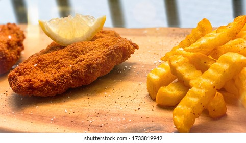 Wiener Schnitzel and French fries