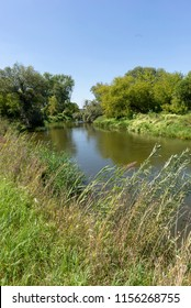 Wieprz river near Zawieprzyce village in Polesie region, Poland