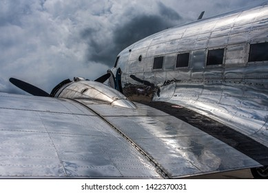 WIESBADEN / GERMANY - JUNE 2019 Aircraft Guaranty Corp. (Swissair cs)  Douglas DC-3C-S1C3G, N431HM, cn 9995, on static displ. during the celebrations 70 years Berlin Airlift. Built as C-47A-45DL 1943