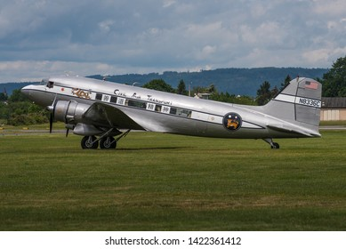 WIESBADEN / GERMANY - JUNE 2019 JM Air Llc Douglas DC-3-S1C3G, N8336C, cn 07313, diplaying Civil Air Transport cs. Taking part in the celebrations for 70 years Berlin Airlift. Built 1942 as a C-53-DO.