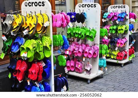 09343d08fe4f61 WIESBADENGERMANYFEB 18 Crocs Shop On February 182015 Stock Photo ...