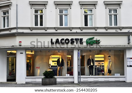 a0c60da052fd1 Wiesbaden GERMANYFEB 18 LACOSTE Store On February 182015 Stock Photo ...